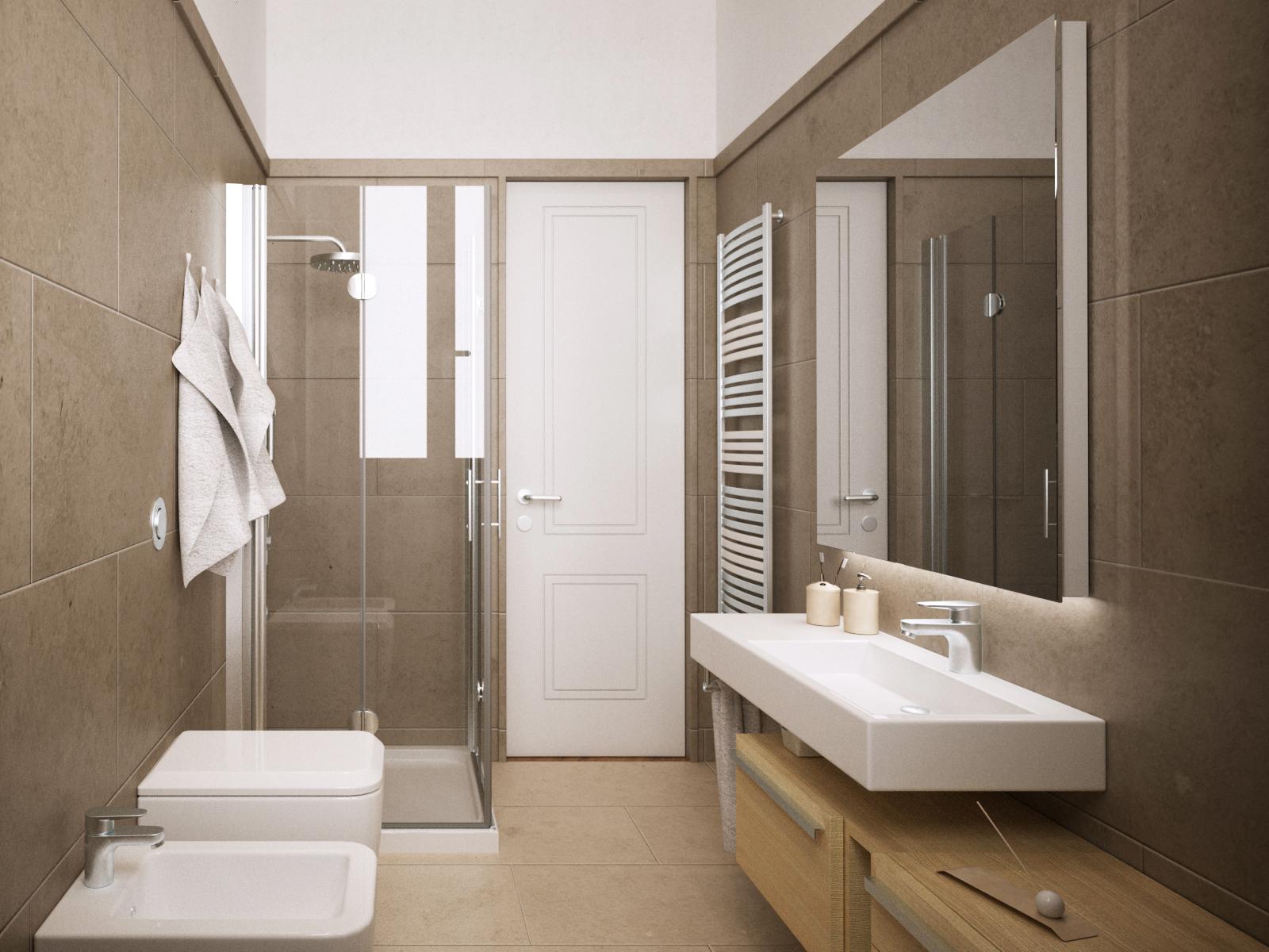 3digit rendering di stanza da bagno a firenze for Stanza da bagno