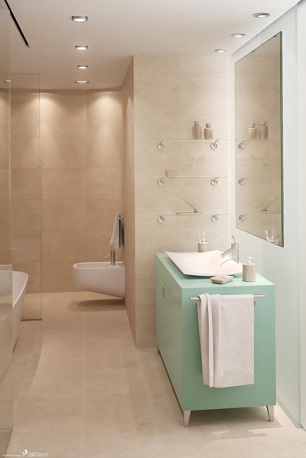 3Digit   Rendering di stanza da bagno a Venezia