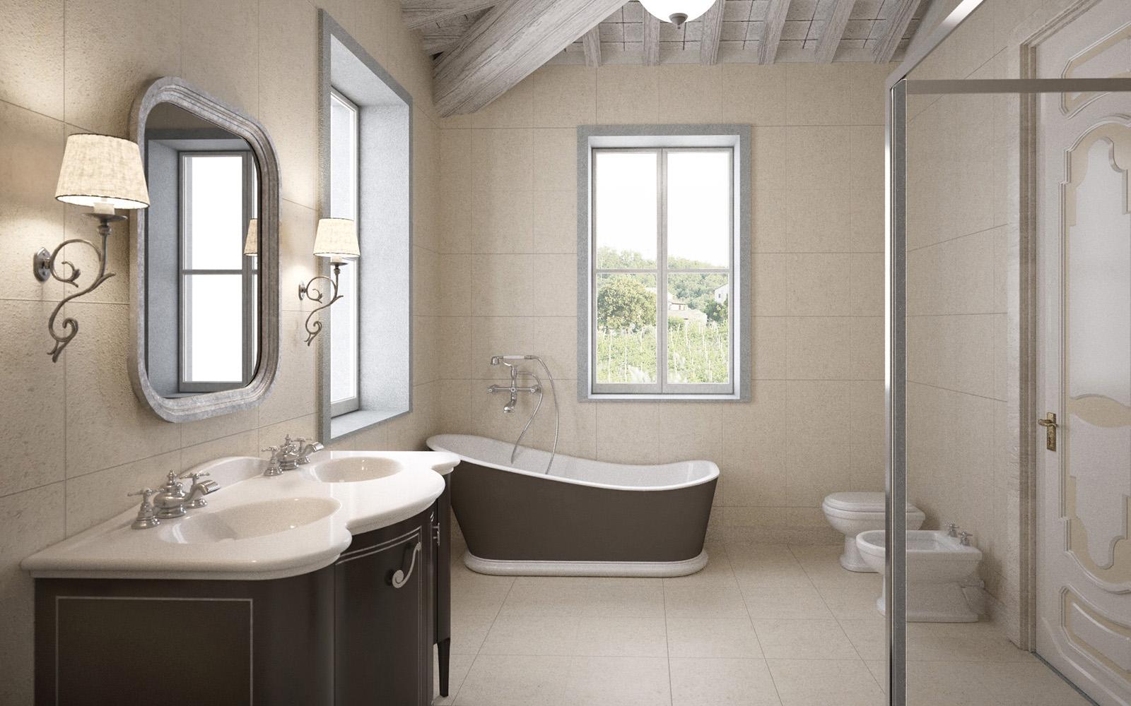 3digit rendering di stanza da bagno di resort nel chianti for Stanza da bagno