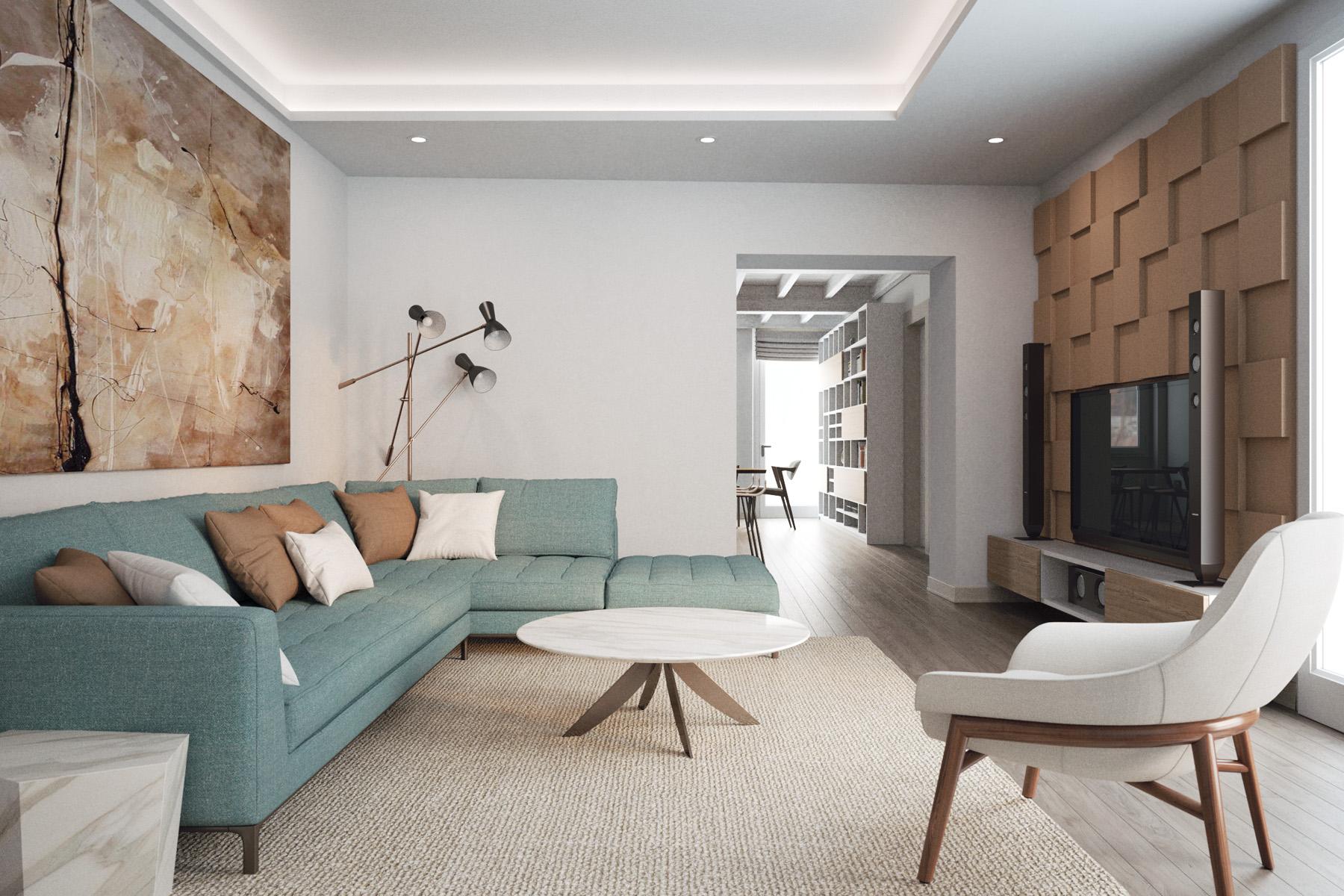 3Digit | Ingresso-soggiorno-luminoso-ristrutturazione ...
